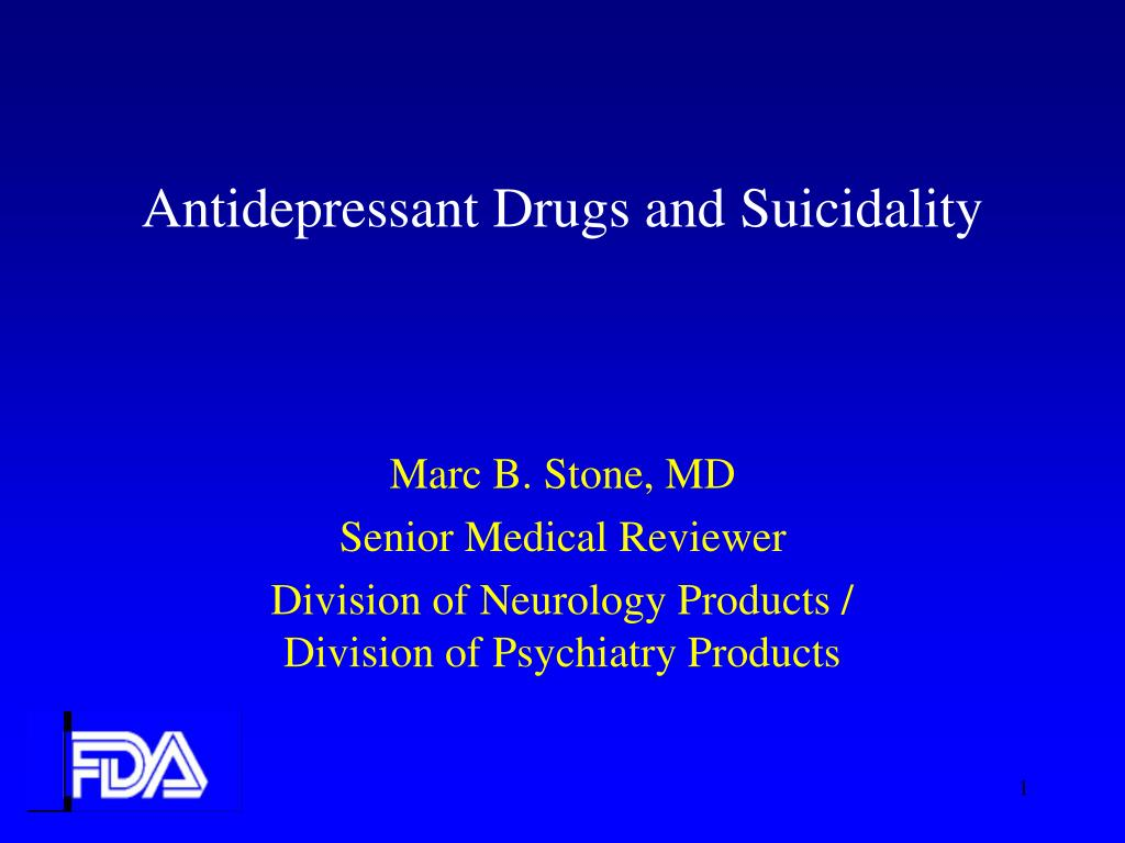antidepressant drugs and suicidality l.