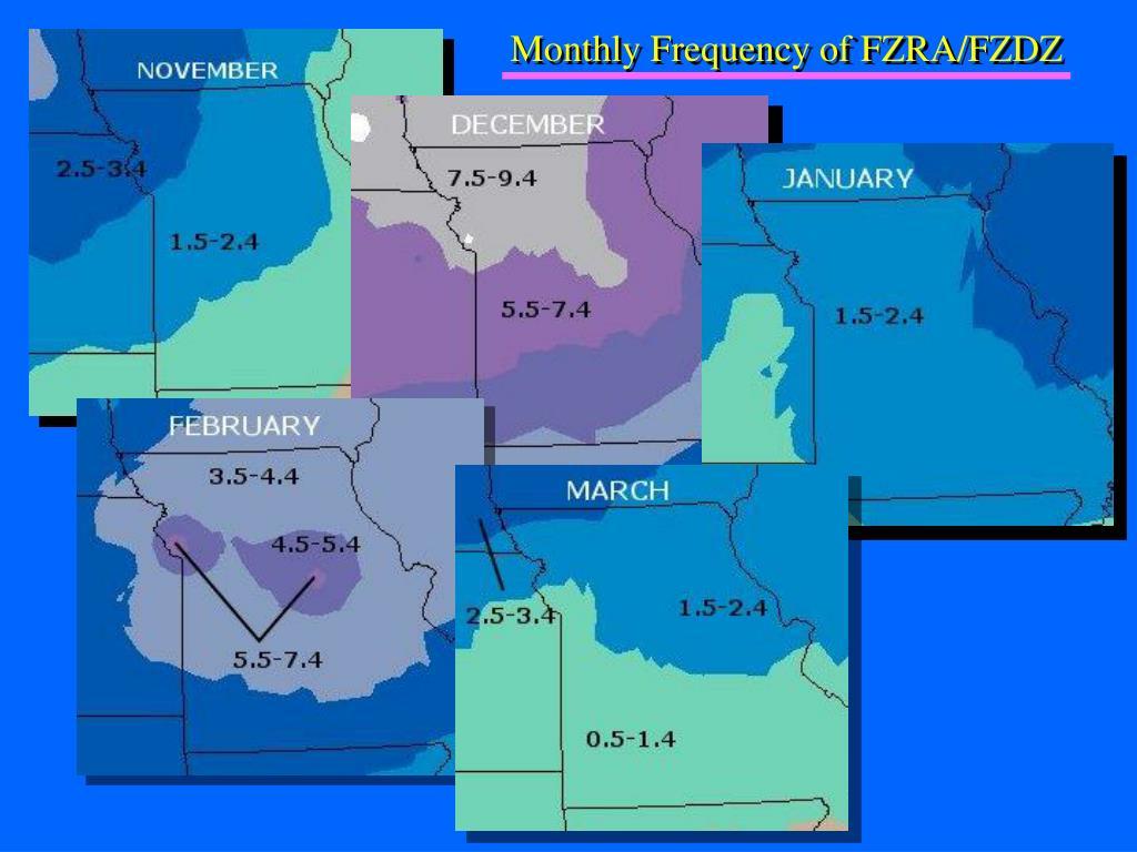 Monthly Frequency of FZRA/FZDZ