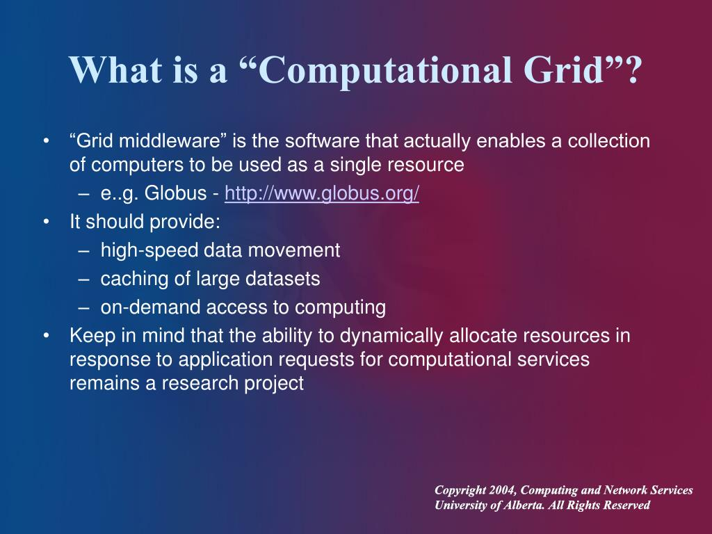 """What is a """"Computational Grid""""?"""