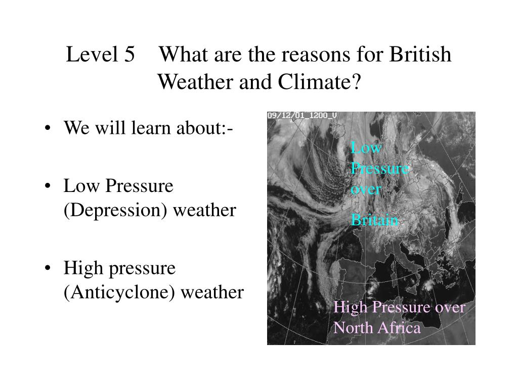 level 5 what are the reasons for british weather and climate l.