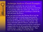 archetype analysis greed examples9