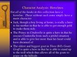 character analysis hero ines