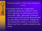 character analysis other major characters con t15