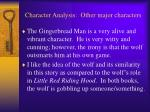 character analysis other major characters