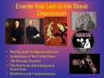 events that led to the great depression