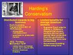 harding s conservatism