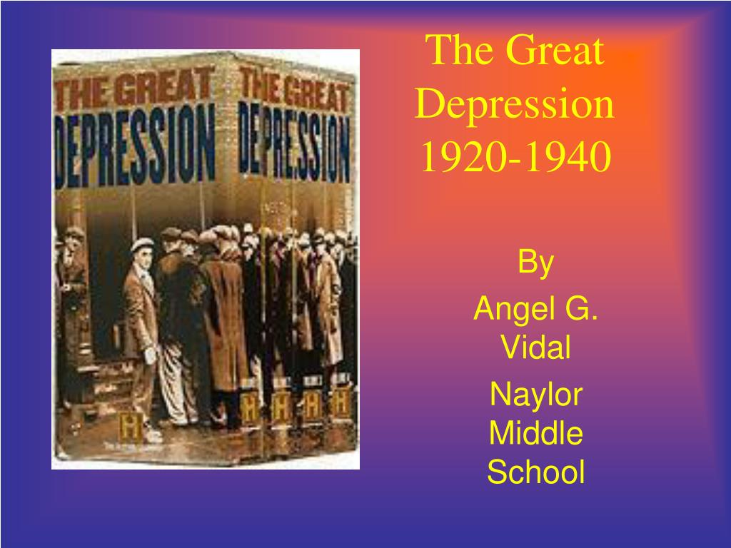 the great depression 1920 1940 l.