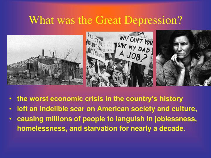 the worst recession since the great depression The long economic downturn that began in late 2007 came to be known at the great recession –- the worst period since the great depression of the 1930s.