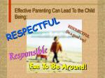 effective parenting can lead to the child being