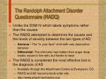 the randolph attachment disorder questionnaire radq