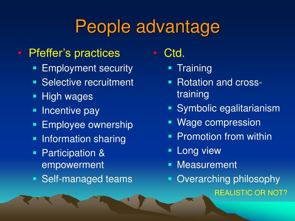 Pfeffer's practices
