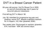 dvt in a breast cancer patient