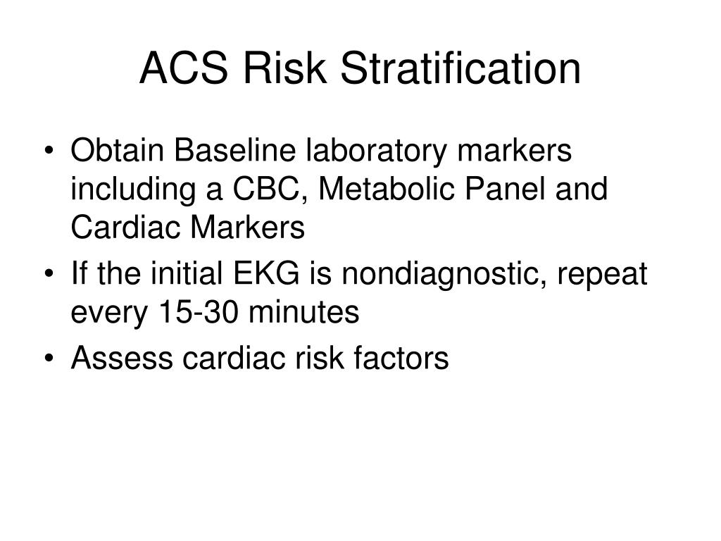 ACS Risk Stratification