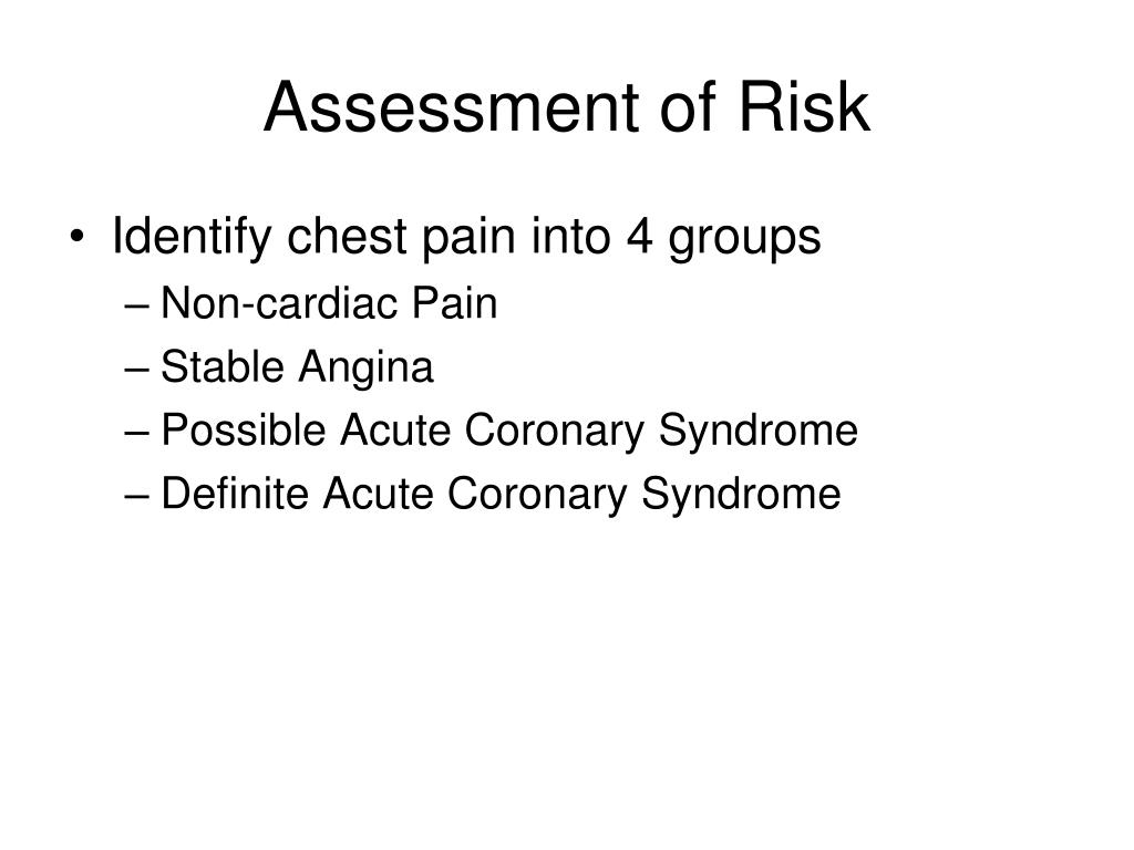 Assessment of Risk
