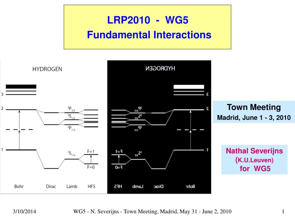 LRP2010  -  WG5