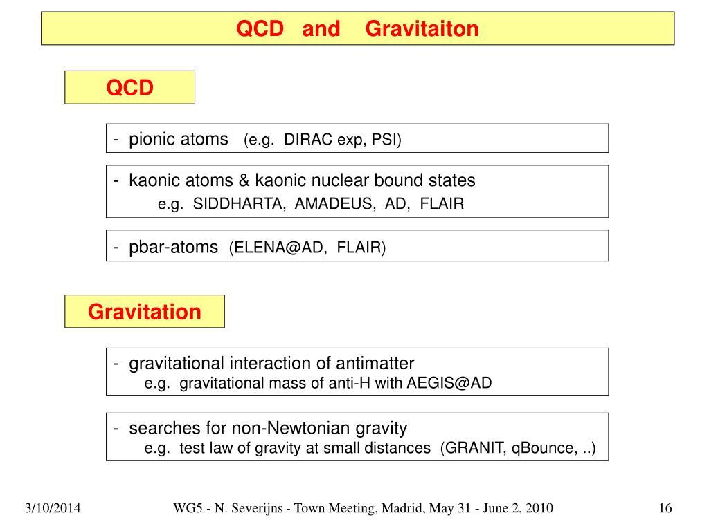 QCD   and    Gravitaiton
