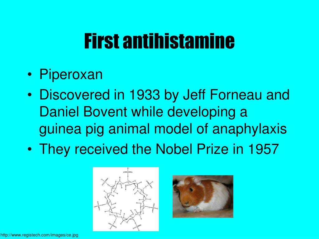 First antihistamine