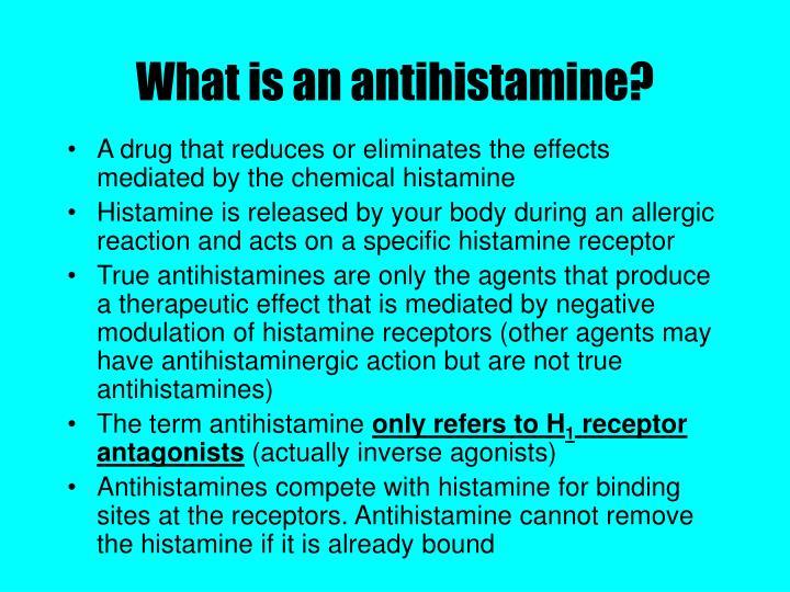 What is an antihistamine