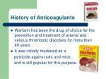 history of anticoagulants22