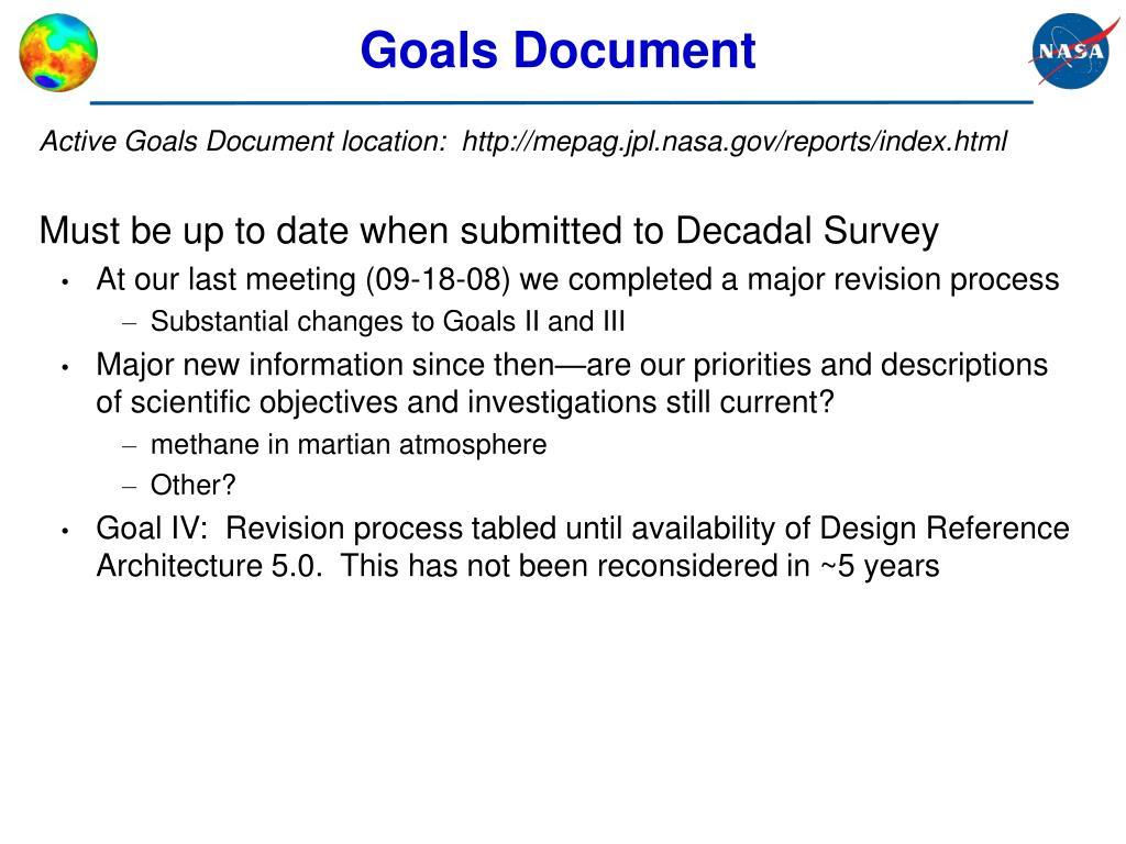 Goals Document