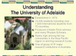 understanding the university of adelaide