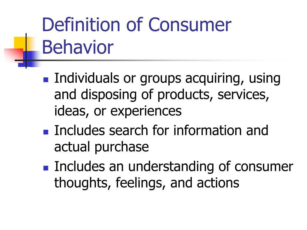 definition of consumer behavior l.