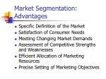 market segmentation advantages