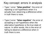 key concept errors in analysis