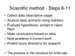 scientific method steps 6 11