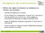 management des communications