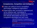 competencies competition and intelligence
