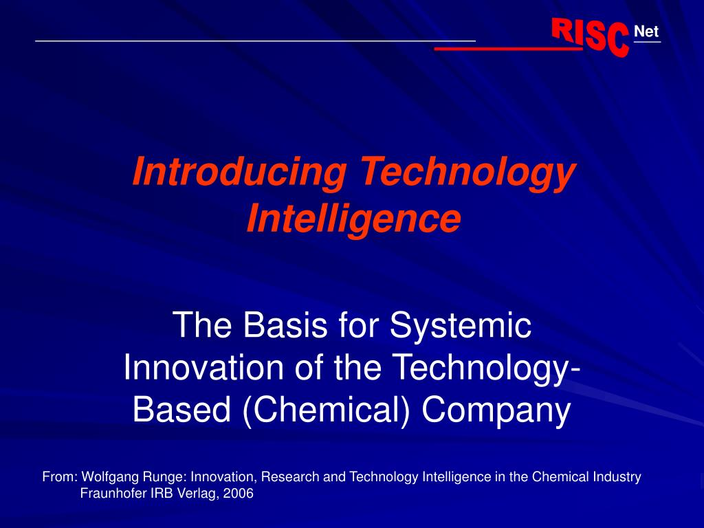 introducing technology intelligence l.