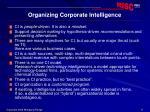 organizing corporate intelligence