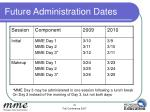 future administration dates
