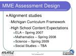 mme assessment design12