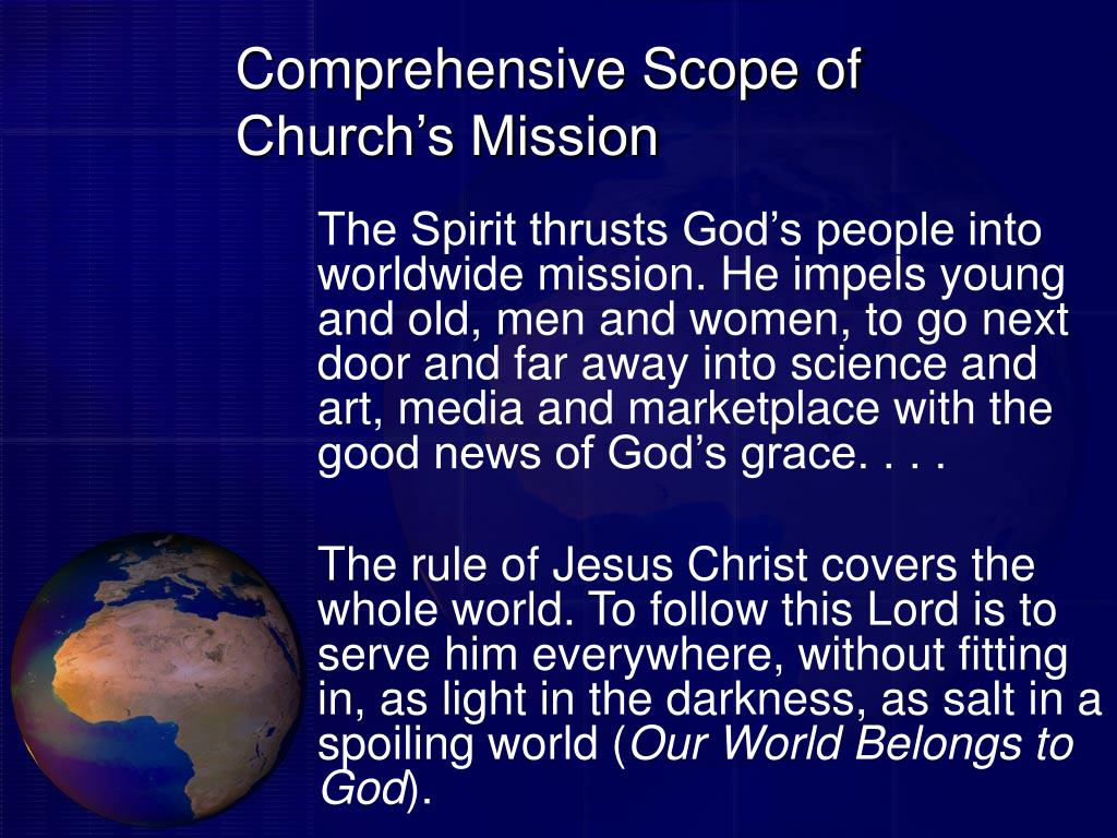 Comprehensive Scope of Church's Mission
