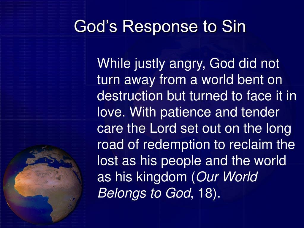 God's Response to Sin