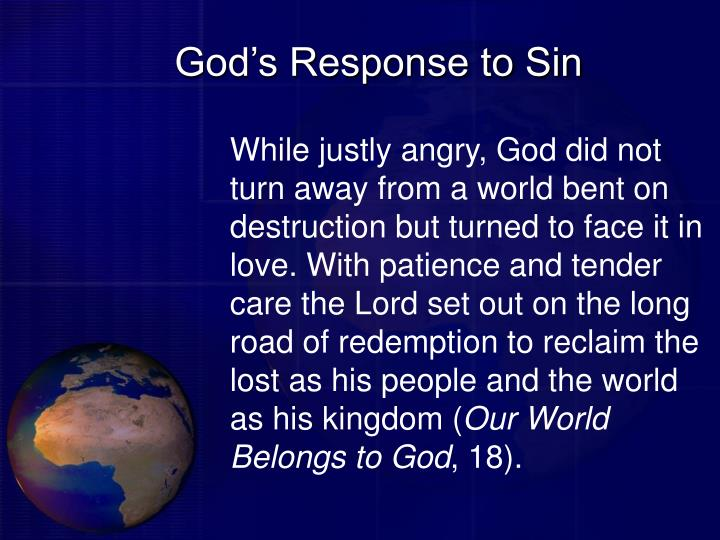 God s response to sin