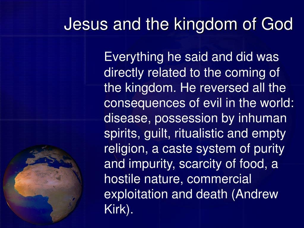 Jesus and the kingdom of God