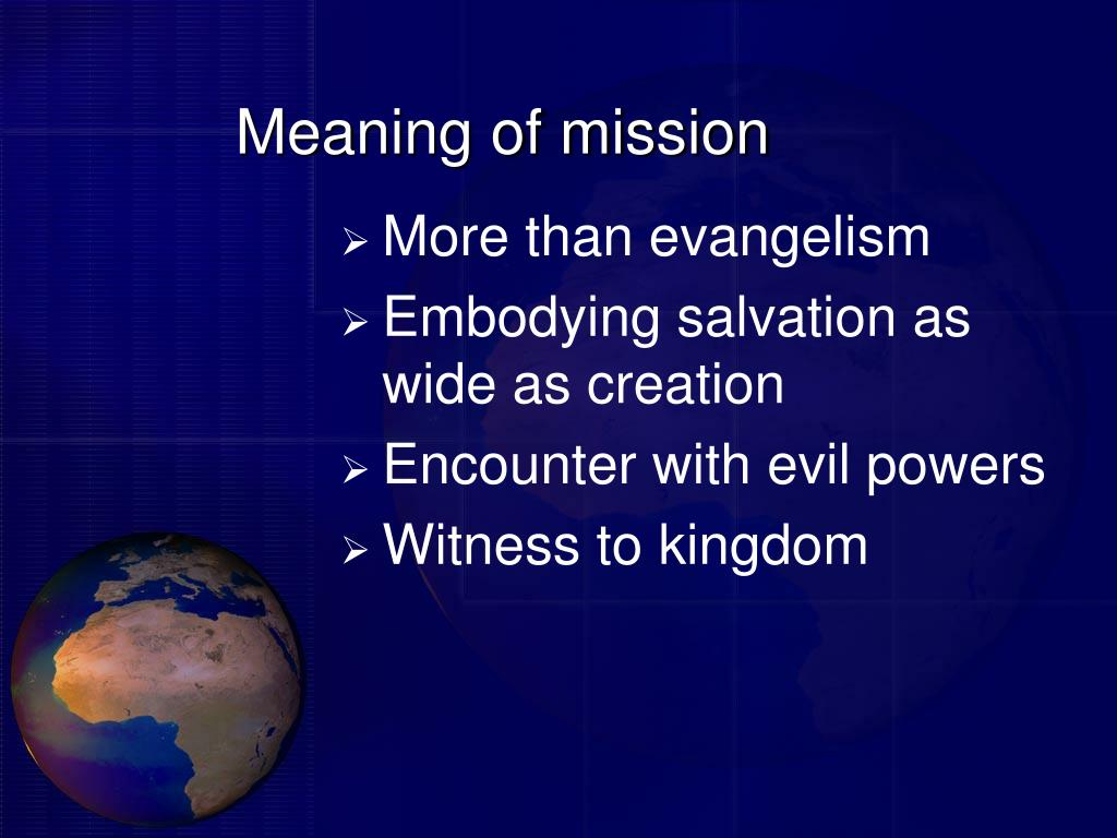 Meaning of mission