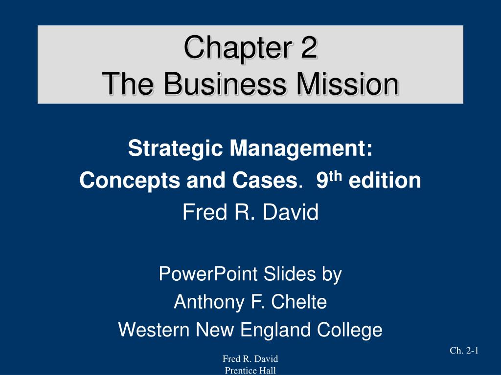chapter 2 the business mission l.