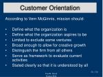 customer orientation