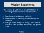 mission statements22