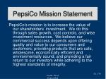 pepsico mission statement