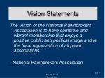 vision statements