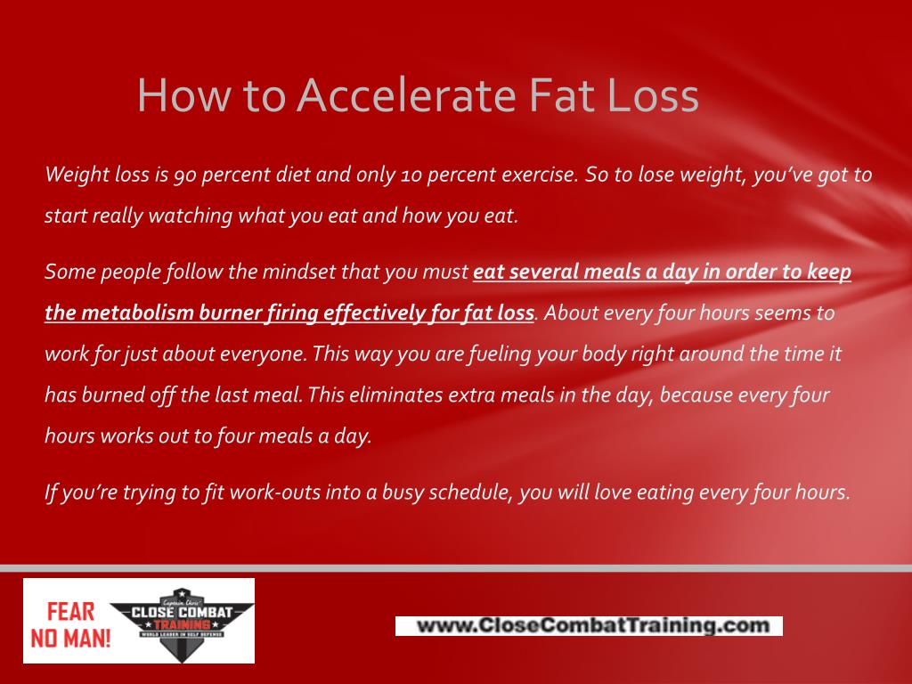 How to Accelerate Fat Loss
