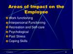areas of impact on the employee
