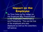 impact on the employee