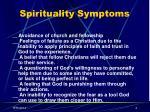 spirituality symptoms