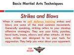 basic martial arts techniques